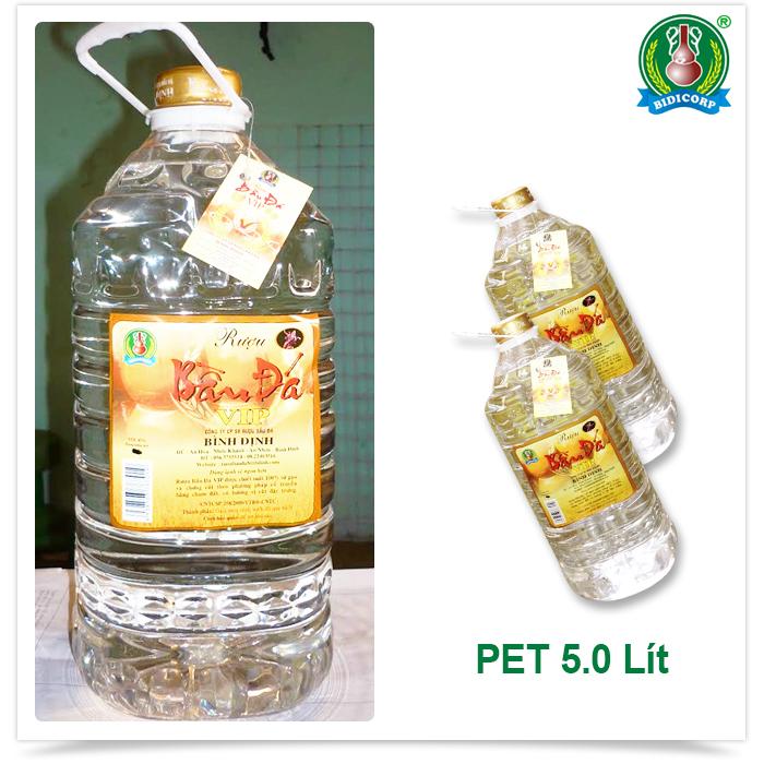 CHAI PET -5 lít - 43 độ