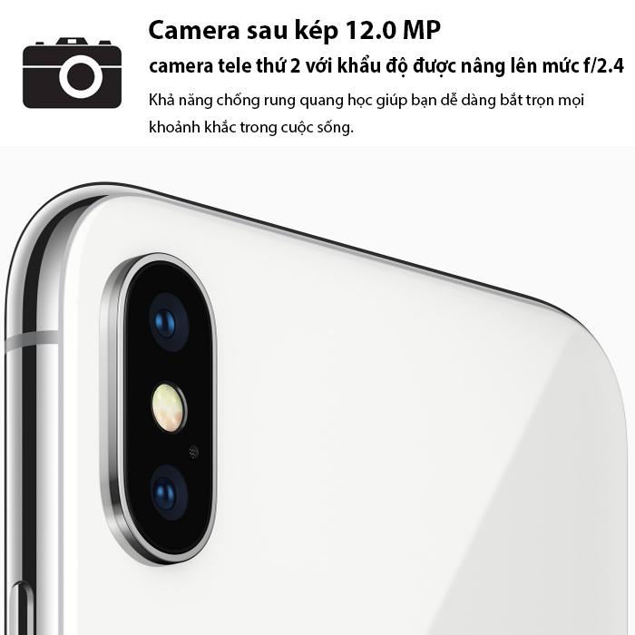 Apple iPhoneX - 64GB Silver - Hàng VN/A chưa active TBH