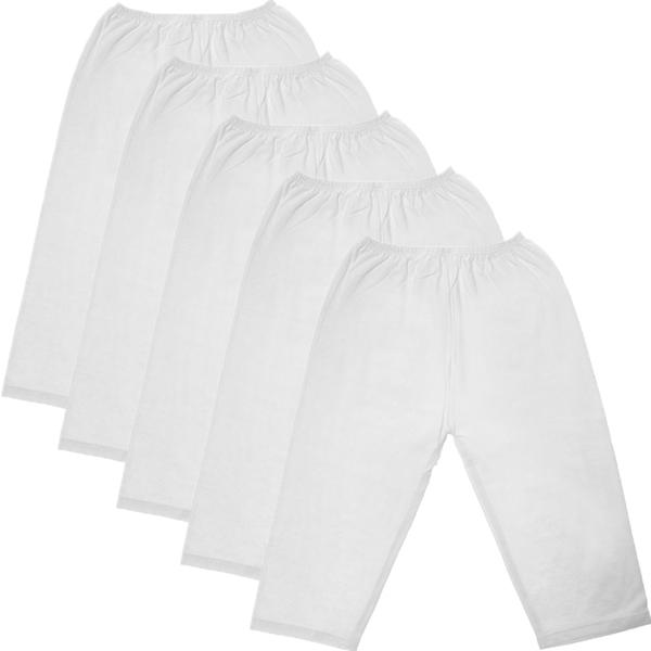 Bộ 5 quần dài trắng cotton Baby Q & N cho bé