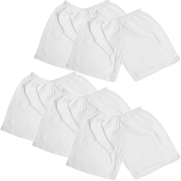 Bộ 5 quần ngắn cotton trắng Baby Q & N cho bé
