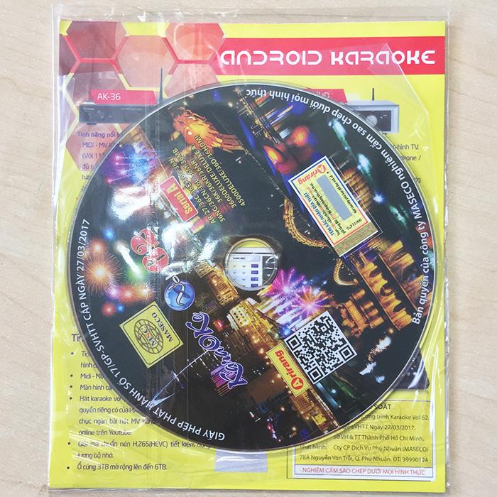 Bộ Đĩa Karaoke Arirang Vol.61/ 62 SERIAL A + Danh Mục Bài Hát mới nhất
