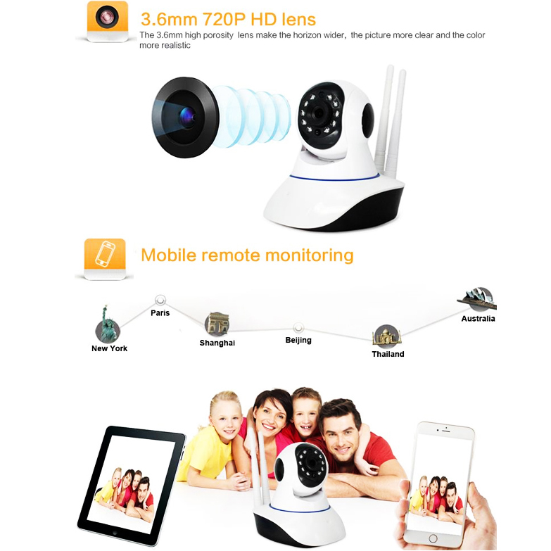 Camera IP Robo Wifi 2 anten Intelligent Yoosee cao cấp
