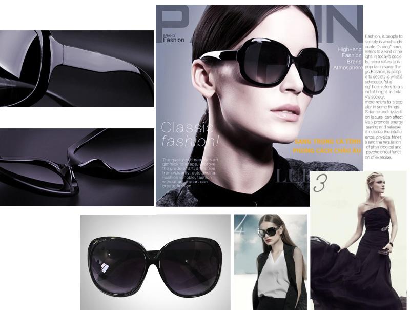 Kính mát nữ Glasses Style MK02 cao cấp (Tím đậm)