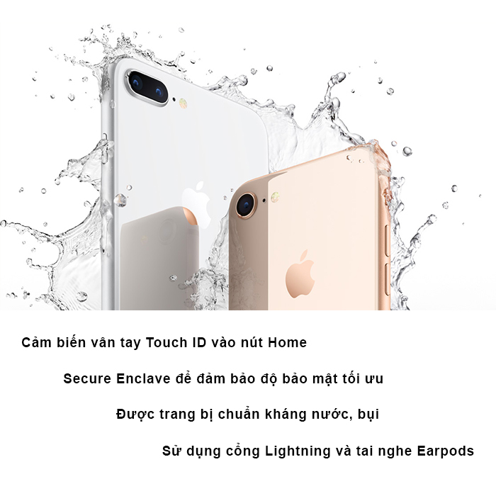 Apple iPhone 8 - 64GB Silver Hàng Mỹ LLA nhập khẩu BH 12T