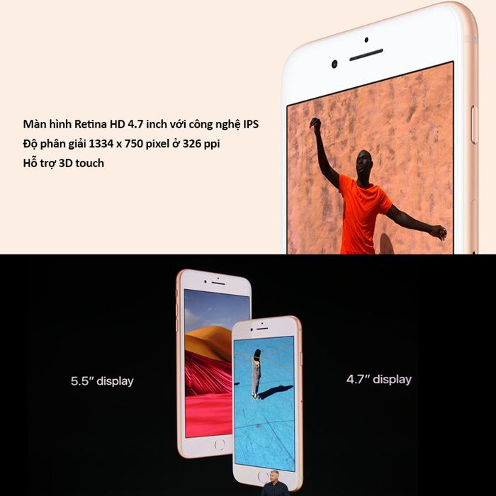 Apple iPhone 8 - 64GB Gold Hàng Mỹ LLA nhập khẩu BH 12T