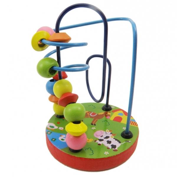 Đồ chơi gỗ sâu chuỗi thông minh cho bé